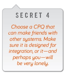 Choose a CPQ that can make friends with other systems
